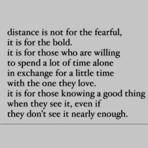 Trust in long distance relationship quotes