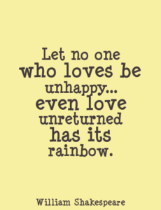 Unrequited love quotes Shakespeare