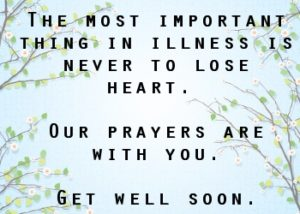 Get Well Soon Quotes with Prayer