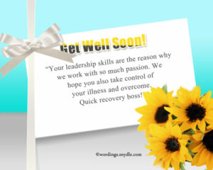 Get well soon messages for boss HD