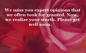 Get well soon miss you quotes