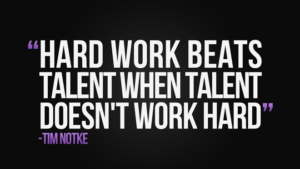 Hard work and Talent Quotes