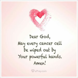 Prayer for healing cancer quotes