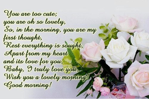 Positive and inspiring good morning wishes with images romantic good morning wishes for her m4hsunfo