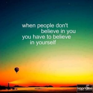 Believing Yourself Quotes