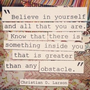 Inspirational believing in yourself quotes