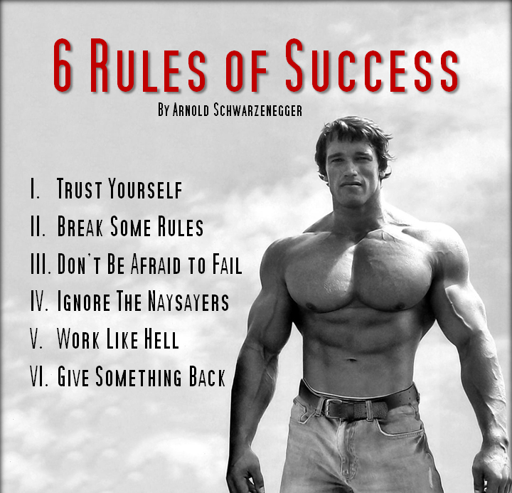 success quotes from arnold schwarzenegger the random vibez