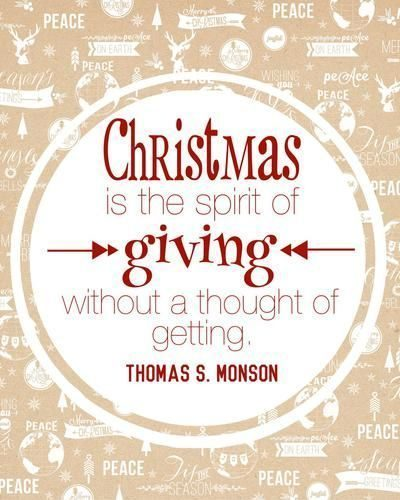 Christmas Is About Giving
