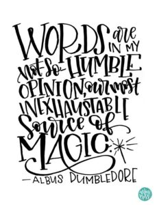 Dumbledore Quotes Words