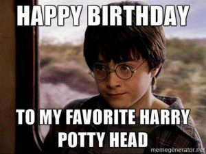 Cute Harry Potter Birthday Meme