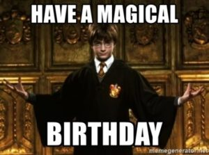 Happy Birthday Harry Potter Meme