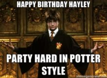 Harry Potter Happy Birthday Memes