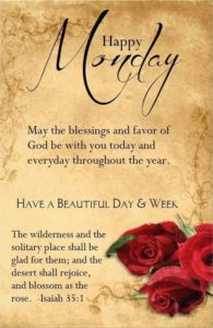 Inspirational Blessed Monday Quotes