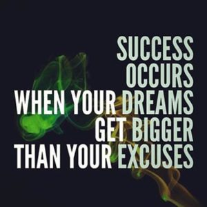 Motivational Quotes about Excuses