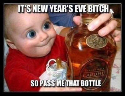 Alcohol New Year Memes