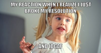 Candy New Year's Resolution Meme