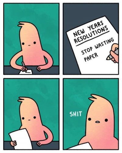 Funny New Year's Resolution Cartoon