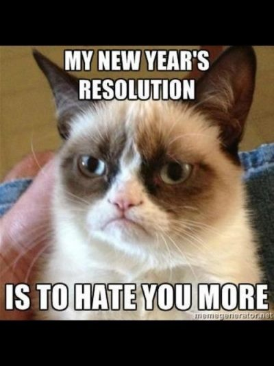Grumpy Cat New Year's Resolution