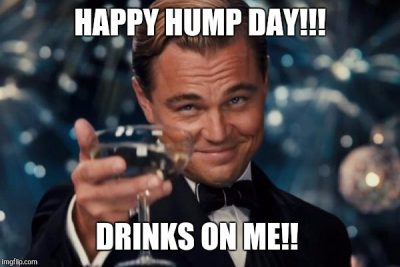 Hump Day drinking meme