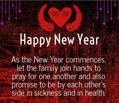 New Year Message For Family