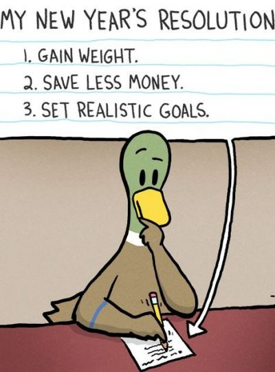 Realistic Funny New Year's Resolution