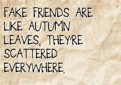 Sad Quotes About Fake Friends