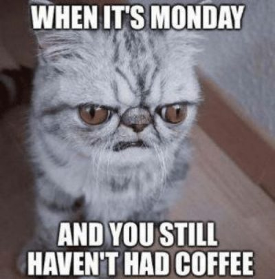Hate For Monday & Love For Coffee Memes