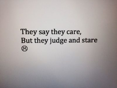 Poetic Quotes On Judging People