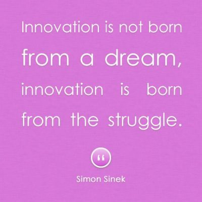 Struggle Results Innovation Quotes