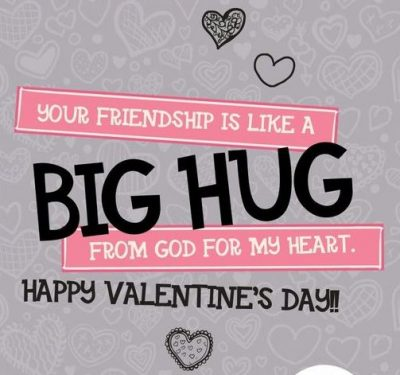 Valentines Day Hugs To Friends Quotes