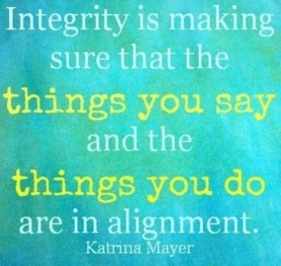 Integrity & Actions Goes Hand in Hand