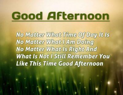 Sayings On Good Afternoon