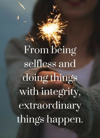 With Integrity Extraordinary Things Happen