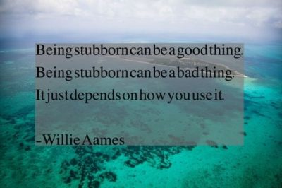 Being Stubborn Quotes