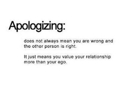 Apologizing In Relationship Quotes