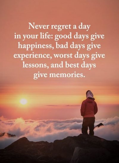 Best No Regrets Quotes