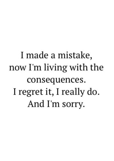 I Regret It Quotes