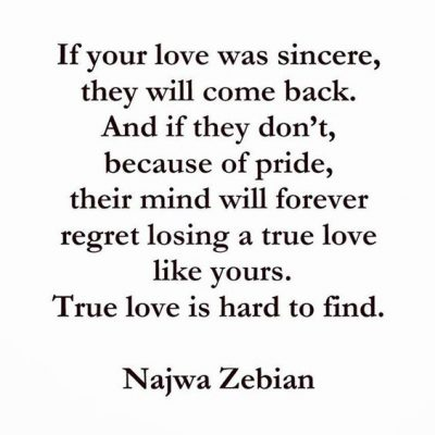 Love Regret Sayings