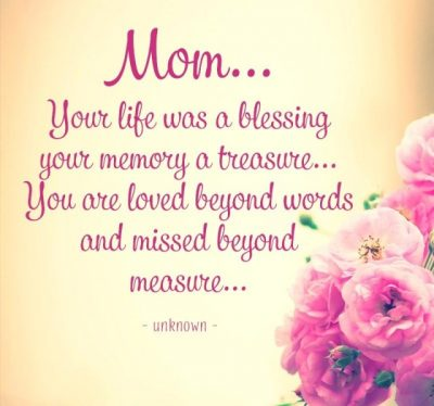 Memorial Quotes For Mom