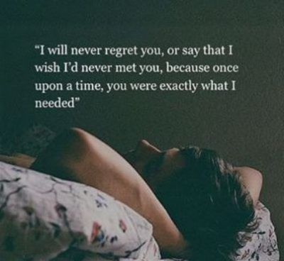 No Regrets Quote Love