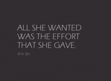 Not Making An Effort Quotes