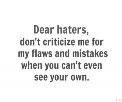 Status Message for Haters