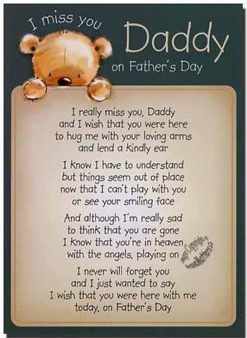 Cute I Miss You on Father's Day Pictures