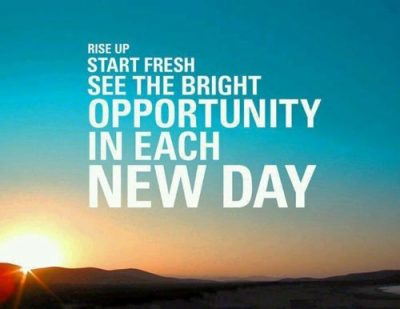 New Day, New Opportunity