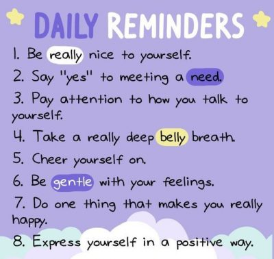 Positive Daily Reminders Tumblr