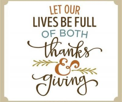 Thanks & Giving Image