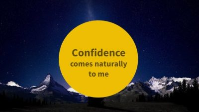Confidence Comes Naturally With Success