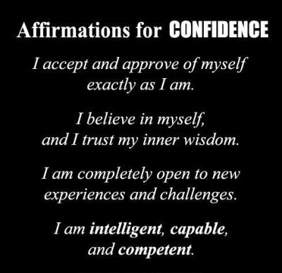 Great Affirmations For Confidence