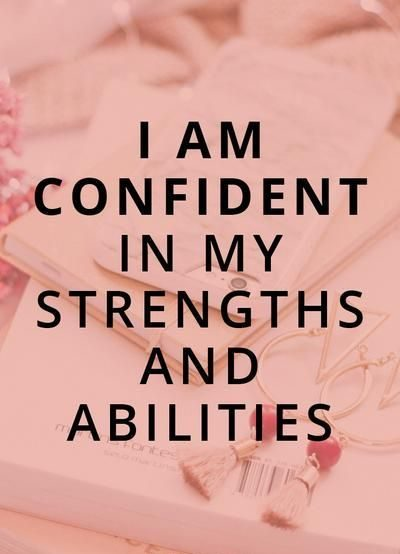 I Am Confident Affirmations