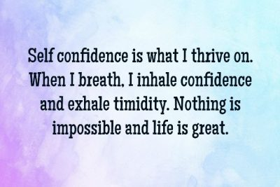 Positive Affirmations For Self Confidence